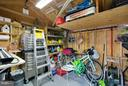 interior of storage shed - 9727 COBBLE STONE CT, HAGERSTOWN