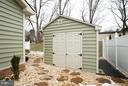 side view of storage shed - 9727 COBBLE STONE CT, HAGERSTOWN