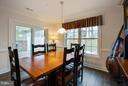 Large dining area   leads to back covered patio - 9727 COBBLE STONE CT, HAGERSTOWN