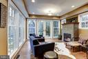 Living doors to front patio - 5704 OREGON AVE NW, WASHINGTON