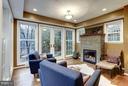 Living room with fireplace - 5704 OREGON AVE NW, WASHINGTON