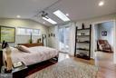 Master bedroom with door to balcony - 5704 OREGON AVE NW, WASHINGTON