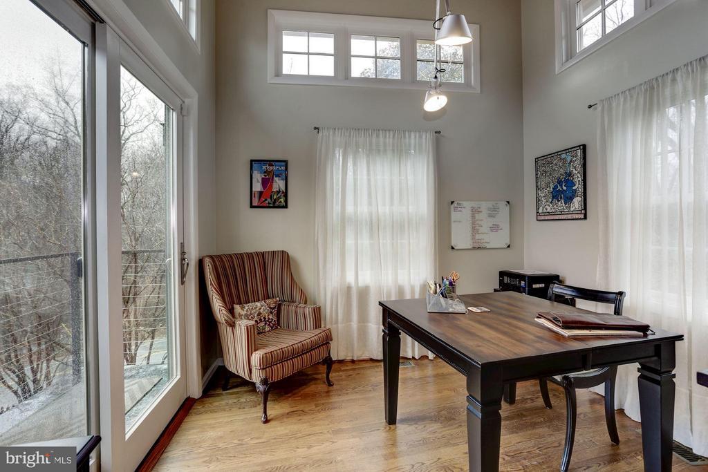 Master studio/office with door to balcony - 5704 OREGON AVE NW, WASHINGTON