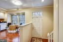 FOYER WITH HARDWOOD FLOORS - 10419 ENGLISHMAN DR #25, ROCKVILLE