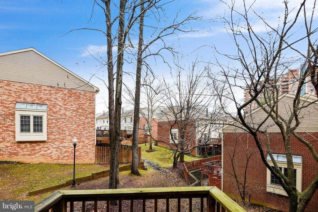 VIEW OF OPEN SPACE & GREENERY  IN SPRING & SUMMER! - 10419 ENGLISHMAN DR #25, ROCKVILLE