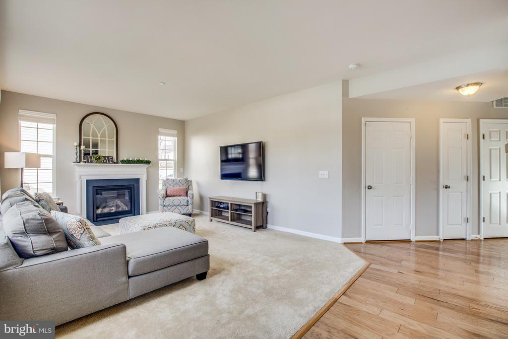 Carpet in family room w/ hardwoods throughout. - 54 COLEMANS MILL DR, FREDERICKSBURG