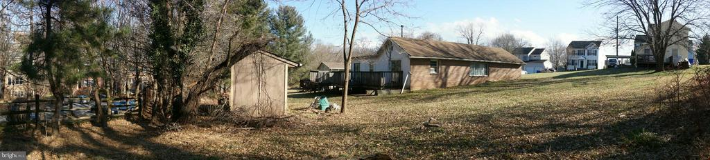 Panoramic view of property from the rear - 1307 WHEATON LN, SILVER SPRING