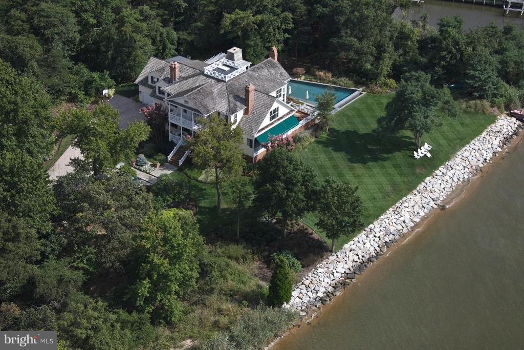 Aerial view. Private, peaceful & secluded LOCATION - 1208 SOUTHBREEZE LN, ANNAPOLIS