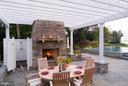 Outdoor shower, flagstone patios - 1208 SOUTHBREEZE LN, ANNAPOLIS