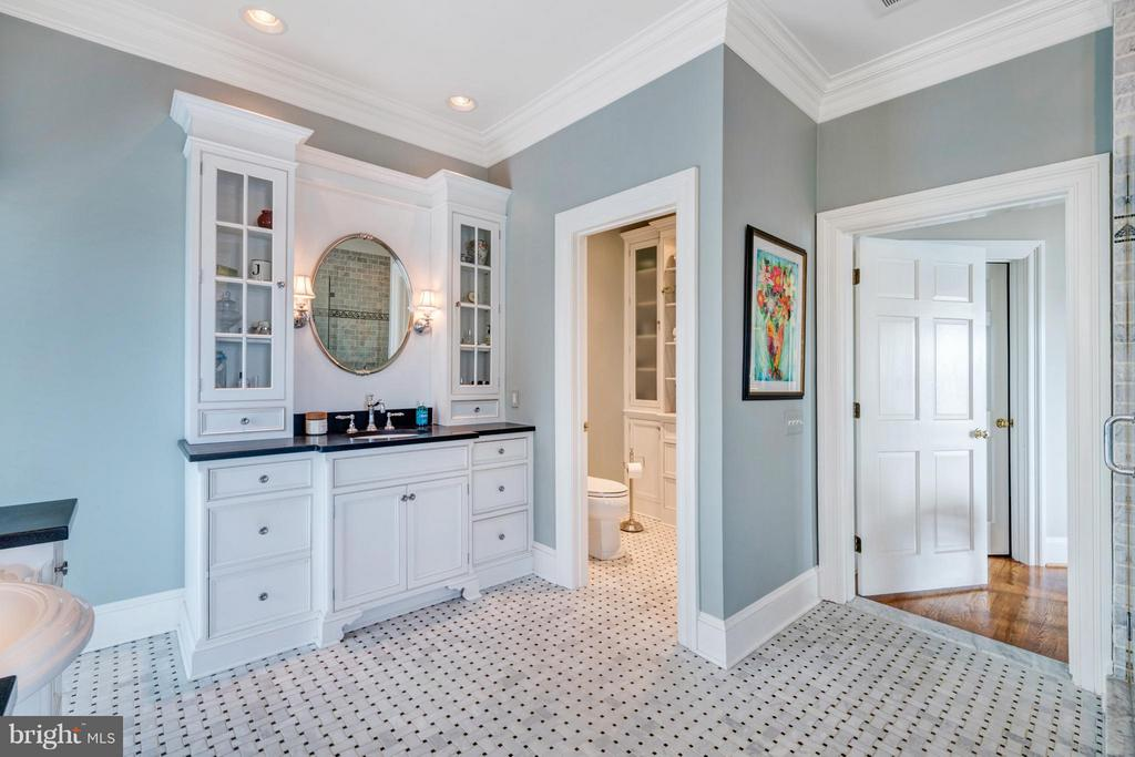 Separate water closet with custom built ins - 1208 SOUTHBREEZE LN, ANNAPOLIS