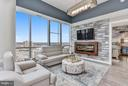 Living Room with Amazing Views from the 19th Floor - 930 ROSE AVE #1905, NORTH BETHESDA