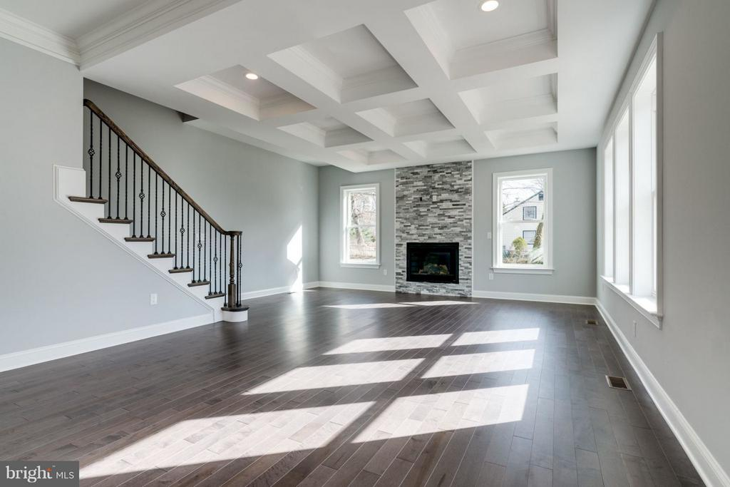Family Room with a gas fireplace - 8733 POHICK RD, SPRINGFIELD