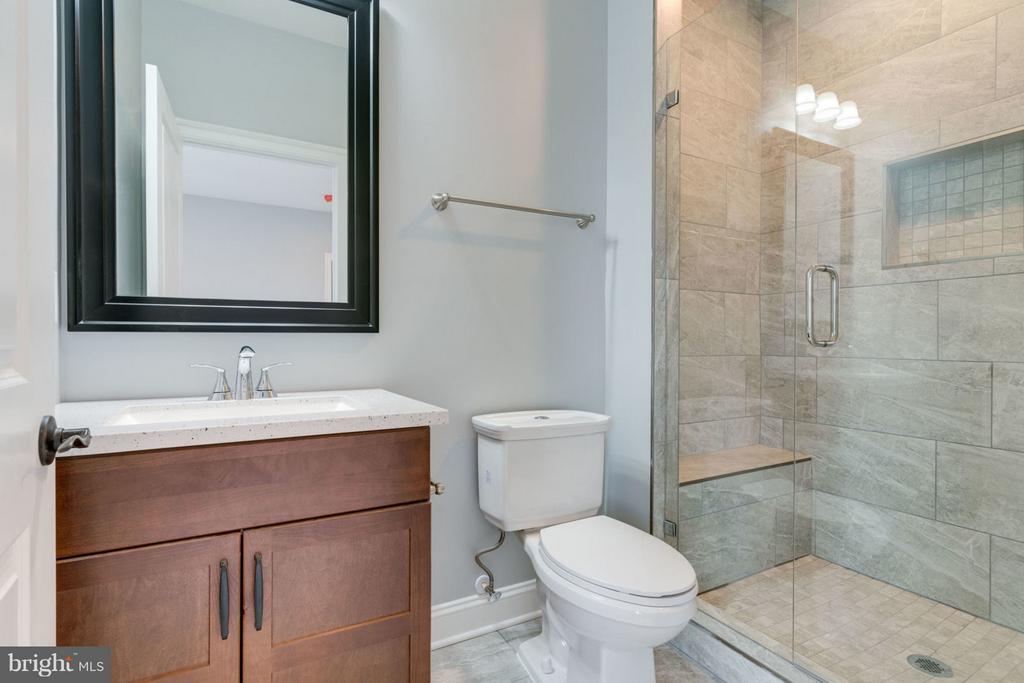 Lower level BATHROOM. - 8733 POHICK RD, SPRINGFIELD
