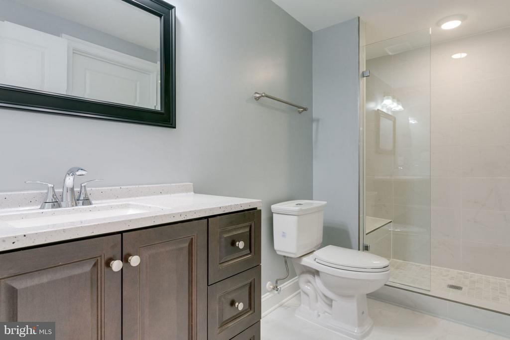 FULL lower level BATHROOM. - 8733 POHICK RD, SPRINGFIELD