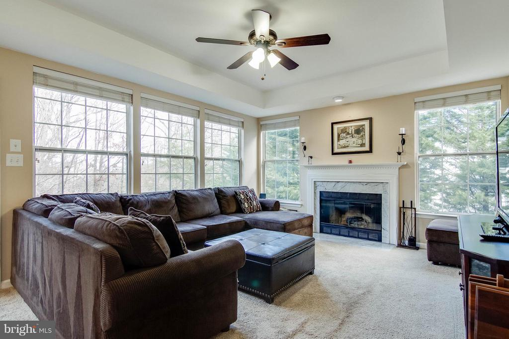Sunfilled Family room overlooking private yard - 3704 THOMASSON CROSSING DR, TRIANGLE