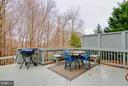 Deck is perfect for entertaining - 3704 THOMASSON CROSSING DR, TRIANGLE