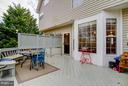 Large Deck overlooking the trees - 3704 THOMASSON CROSSING DR, TRIANGLE