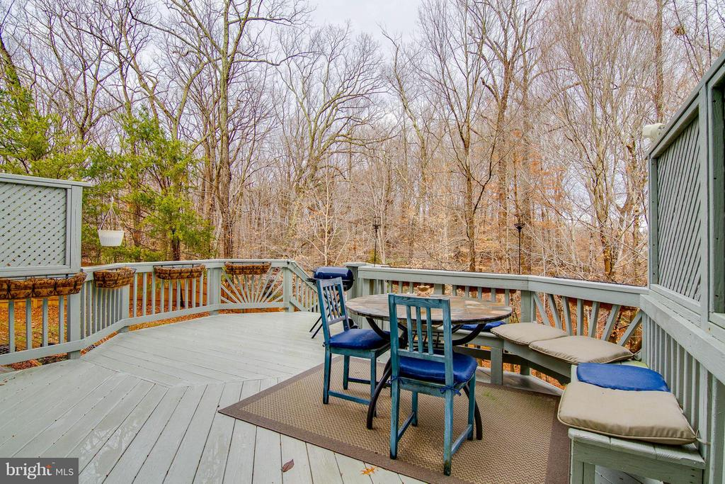Spacious Deck overlooking the trees - 3704 THOMASSON CROSSING DR, TRIANGLE