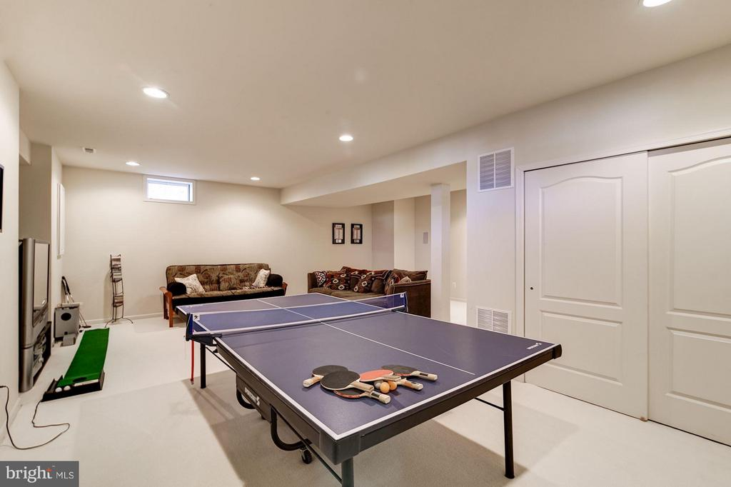 Finished Lower Level Recreation Room - 43226 BALTUSROL TER, ASHBURN