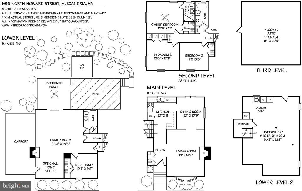 Floor Plans, can be emailed upon request - 1616 N HOWARD ST, ALEXANDRIA