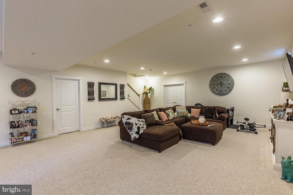 Massive recreation room in lower level - 17041 SILVER ARROW DR, DUMFRIES