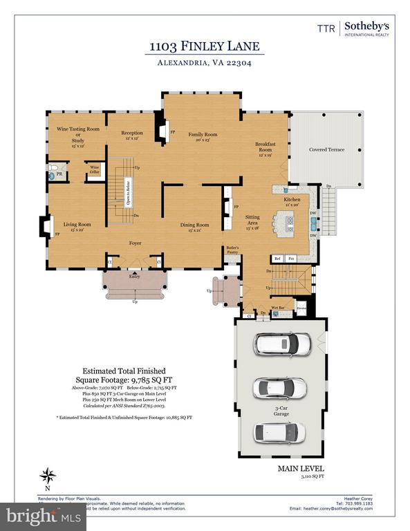 Main Level Floor Plans - 1103 FINLEY LN, ALEXANDRIA