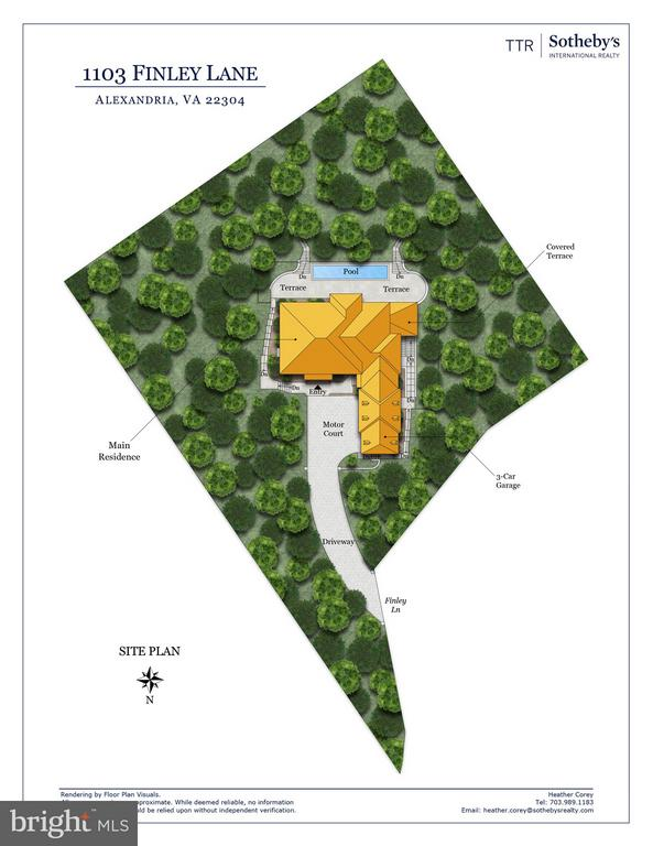 Finley Lane Site Plan - 1103 FINLEY LN, ALEXANDRIA