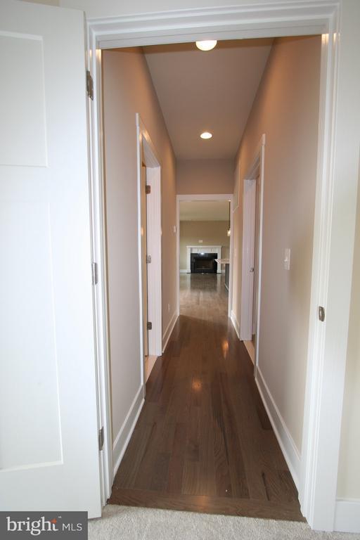 View from main floor bedroom towards family room - YAKEY LN, LOVETTSVILLE