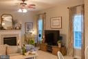 Family Room with Fireplace - 5629 EPPES ISLAND PL, MANASSAS