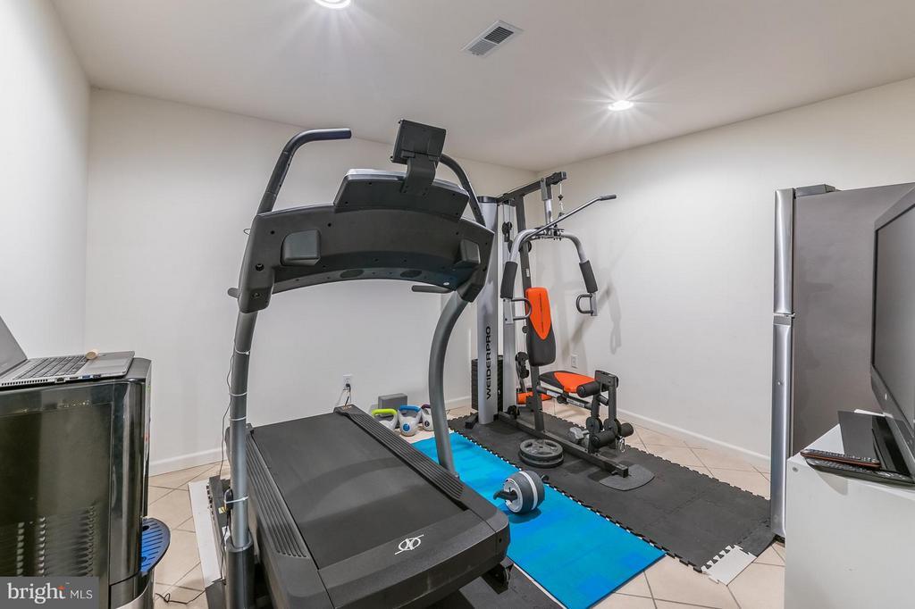 Basement Additional Room or Gym - 46909 BACKWATER DR, STERLING