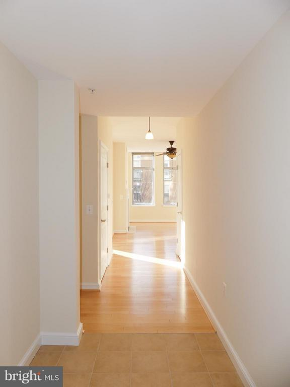 Entry foyer and hall. - 11990 MARKET ST #215, RESTON