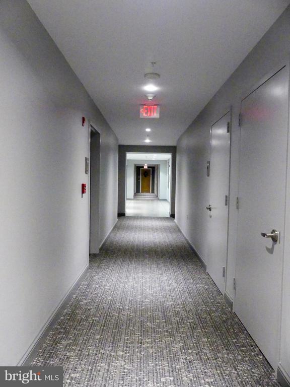 Hallway to elevator on 2nd flr, west tower. - 11990 MARKET ST #215, RESTON