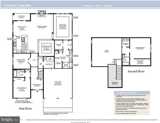 Bowan Floor Plan - 6014 TROTTERS POINT LN, GAINESVILLE