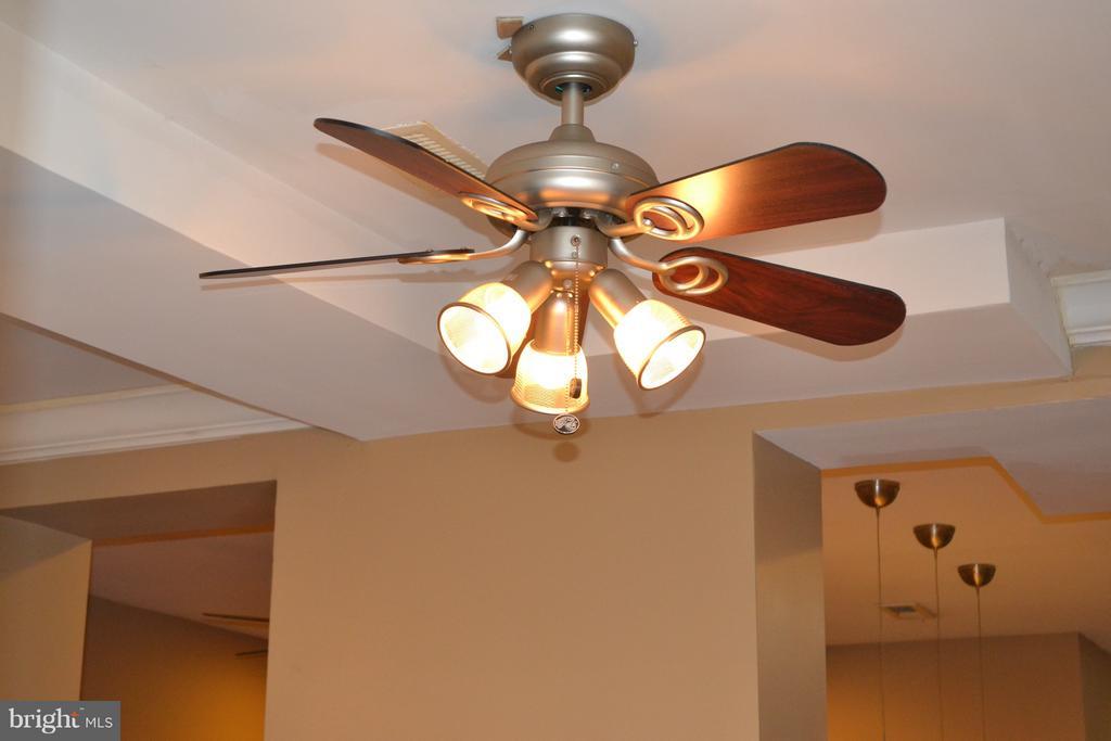 Ceiling fan in the kitchen. - 1724 BAY ST SE, WASHINGTON