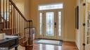 Decorative glass door with sidelights and transom - 101 FEATHERDALE CIR, FAYETTEVILLE