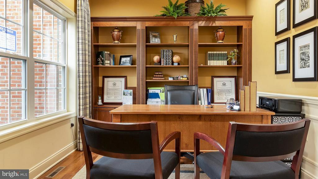 Study with built-ins and shadowbox trim - 101 FEATHERDALE CIR, FAYETTEVILLE