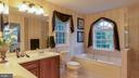 Bathroom with extra large vanity with dual sinks - 101 FEATHERDALE CIR, FAYETTEVILLE