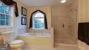 Soaking tub and separate shower - 101 FEATHERDALE CIR, FAYETTEVILLE