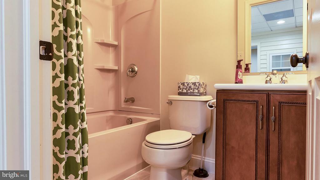 Basement features a full bathroom - 101 FEATHERDALE CIR, FAYETTEVILLE