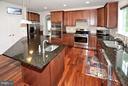 Kitchen w/Verde Ubatuba Granite Countertops - 3145 BARBARA LN, FAIRFAX