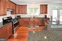 Kitchen w/Tumbled Marble Backsplash - 3145 BARBARA LN, FAIRFAX