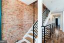 Exposed Brick Staircase - 1101 S ST NW, WASHINGTON