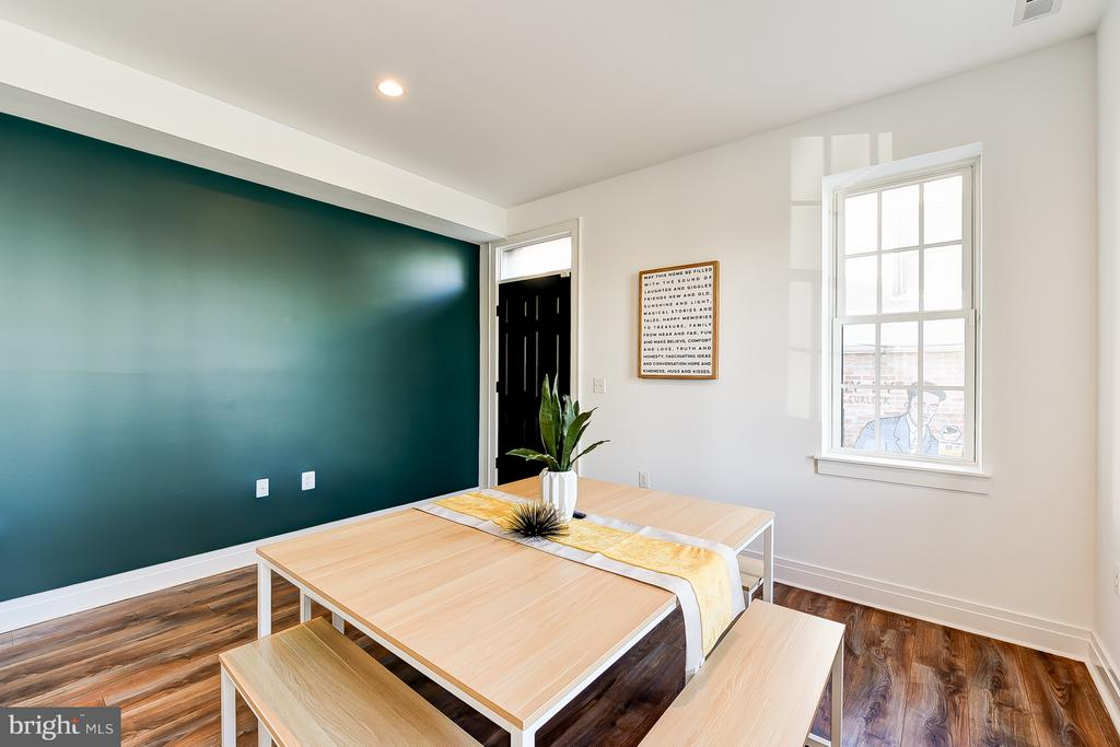 Dining Room/Den With Back Door to Access Parking - 1101 S ST NW, WASHINGTON