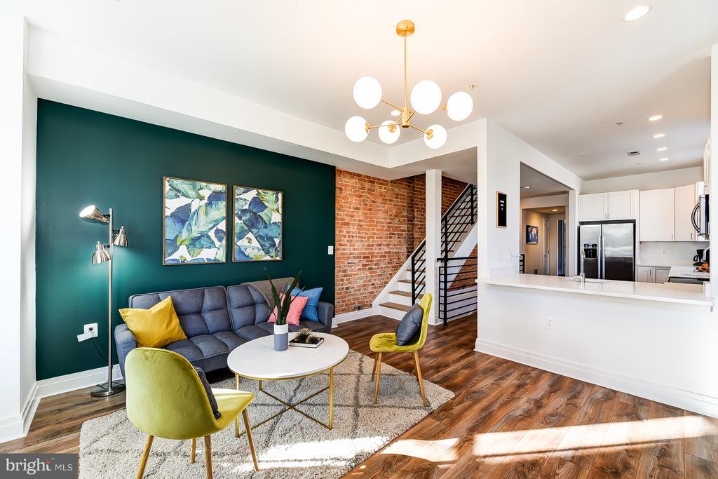 Living Room/Dining Room - 1101 S ST NW, WASHINGTON