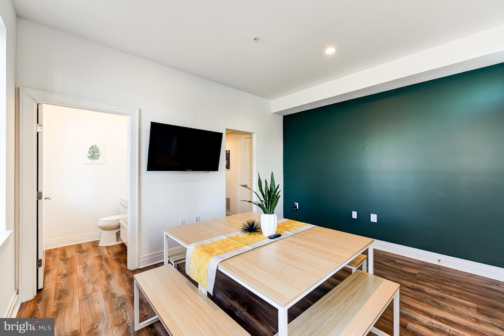 Dining Room/Den with Half Bath - 1101 S ST NW, WASHINGTON