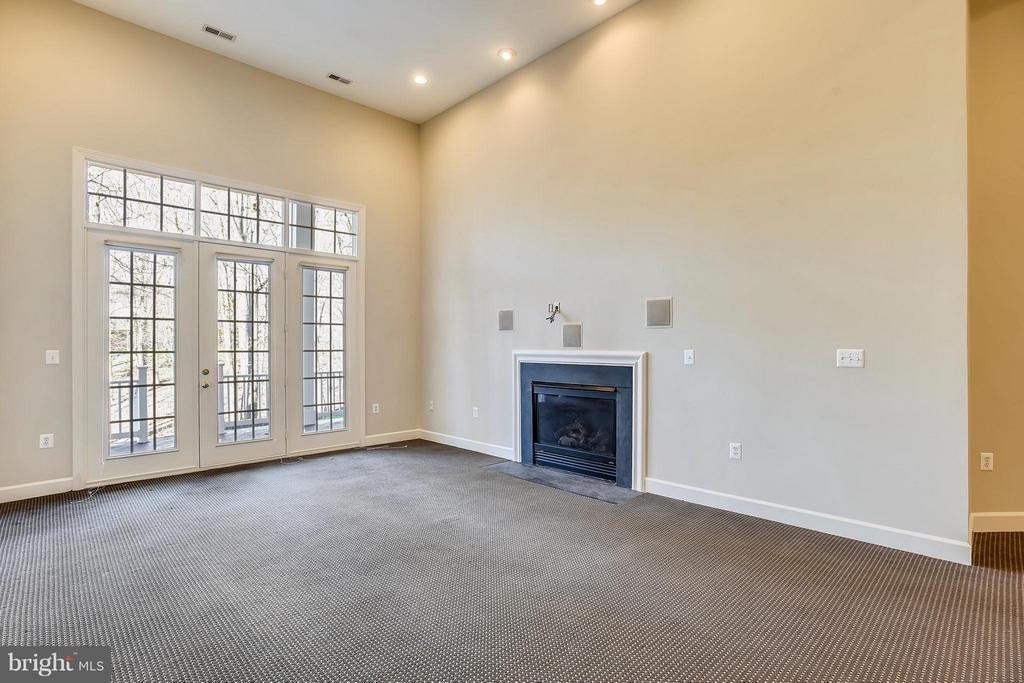 Recreation Room with gas fireplace - 18263 MULLFIELD VILLAGE TER, LEESBURG