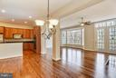 Kitchen/Eat in Area opens to Family Room - 18263 MULLFIELD VILLAGE TER, LEESBURG