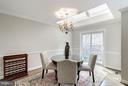 Dining Room with Skylight - 5206 BEDLINGTON TER, ALEXANDRIA