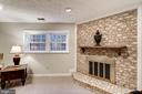Basement Wood Burning Fireplace - 5206 BEDLINGTON TER, ALEXANDRIA