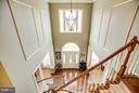 Entrance Foyer from Upstairs Hallway - 1019 E KENSINGTON CIR, FREDERICKSBURG